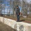 Rafael renoveeritud mõisapargi müüril
